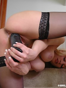 Sexy Blonde Tatiana Bangs Her Hungry Cunt by Thick Dildo