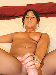 Busty Brunette Lady Deeply Penetrated on Straight Dong in POV
