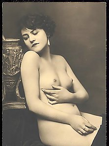 Busty Bombshell Nice Posing In Vintage Model in Different Poses