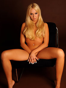Gorgeous Blonde Whore Squeezes Her Boobs and Shows Her Bare Body