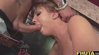 Brown Haired Horny Babe Gets Fucked Hard in Her Tight Asshole