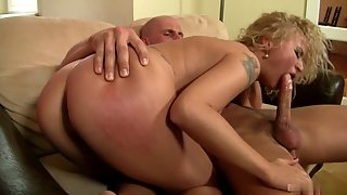 Horny Blonde Angel Diamonds Having Shaved Tight Pussy Filled with Cums