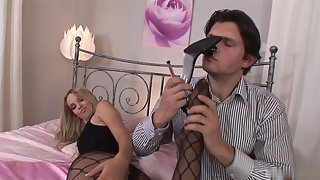 Gorgeous Blonde Aneta J Loves Taking White Cum All Over the Feet
